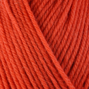 Nasturtium 3336, a bright orange skein of washable worsted weight Ultra Wool yarn.