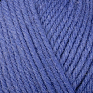 Periwinkle 3333, a blue-purple skein of washable worsted weight Ultra Wool yarn.