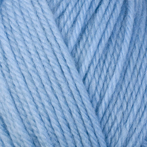 Sky Blue 3319, a light blue skein of washable worsted weight Ultra Wool yarn.