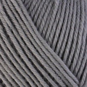 Smoke 3306, a light grey skein of washable worsted weight Ultra Wool yarn.