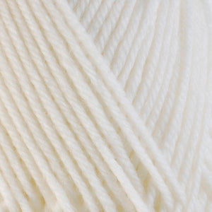 Snow 3300, a white skein of washable worsted weight Ultra Wool yarn.