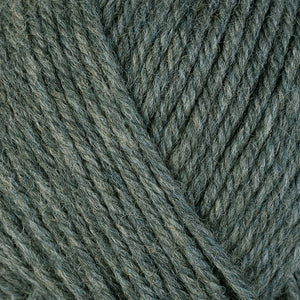 Spruce 33125, a heathered green-grey skein of washable worsted weight Ultra Wool yarn.