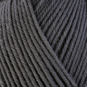 Storm 3307, a medium grey skein of washable worsted weight Ultra Wool yarn.