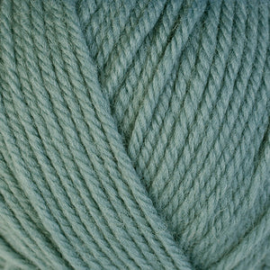 Thyme 3316, a light greyish blue-green skein of washable worsted weight Ultra Wool yarn.