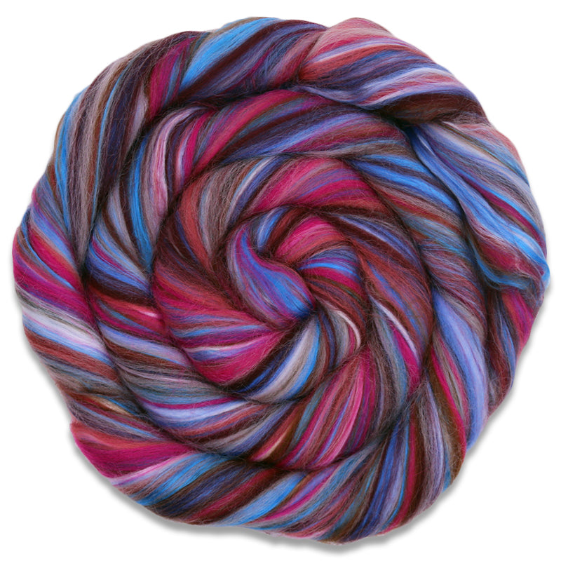 Cryptic Corriedale - Fraulein Forgetmenot-Fiber-4 oz-