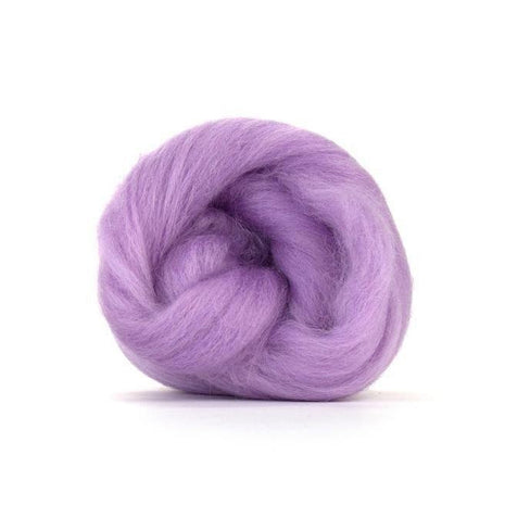 Paradise Fibers Solid Color Blue Faced Leicester Wool Top-Fiber-Paradise Fibers-4oz-Lavender-Paradise Fibers
