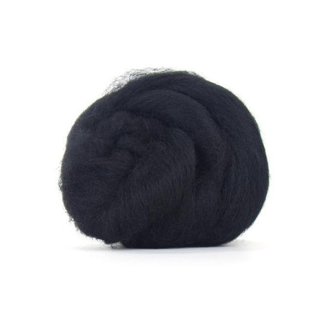 Paradise Fibers Solid Color Blue Faced Leicester Wool Top-Fiber-Paradise Fibers-4oz-Raven-Paradise Fibers