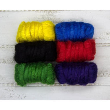 Paradise Fibers Solid Color Tussah Silk Top-Fiber-Paradise Fibers-4oz-Jonquil-Paradise Fibers