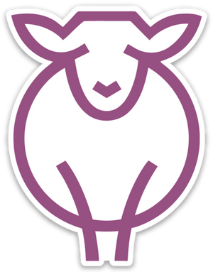 Paradise Fibers Sheep Stickers-Stickers-Ewenice-