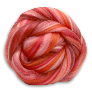 Merino and Pineapple Blend - Living Coral-Fiber-Paradise Fibers
