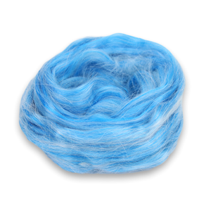 Paradise Fibers Frosted Halo Collection - Mohair and Silk Fiber Blends-Fiber-Blue Raspberry-2oz-