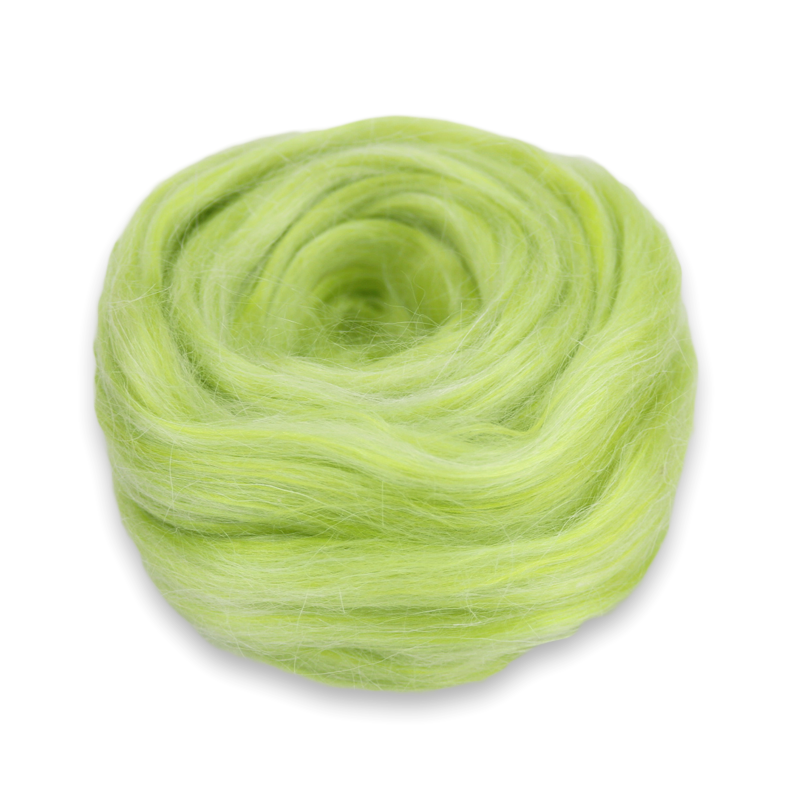 Blending Roving Green 4 oz Paradise Fibers Vegan Dyed Acrylic Olive Knitting and Crocheting Perfect for Spinning