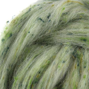 Wool and Viscose Tweed Top- Moss-Fiber-4 oz-