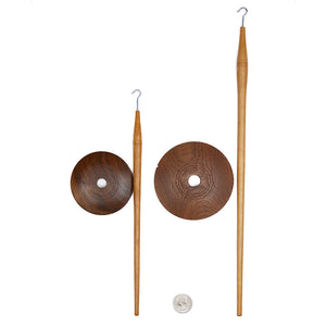 Jorn Piel - Priscilla Nordic Drop Spindle-Spindles-Mini Nordic Spindle - Whorl + Shaft-