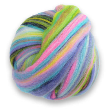 Paradise Fibers Multi Colored Merino Wool Top - Bloom