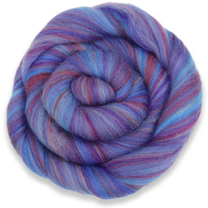 Paradise Fibers Multi-Colored Merino Wool Roving - Amethyst-Fiber-Paradise Fibers