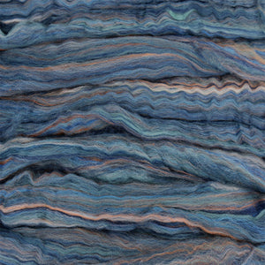 Paradise Fibers Multi-Colored Merino Wool Roving - Denim-Fiber-Paradise Fibers