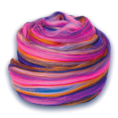 Paradise Fibers Multi Colored Merino Wool Top - Petals