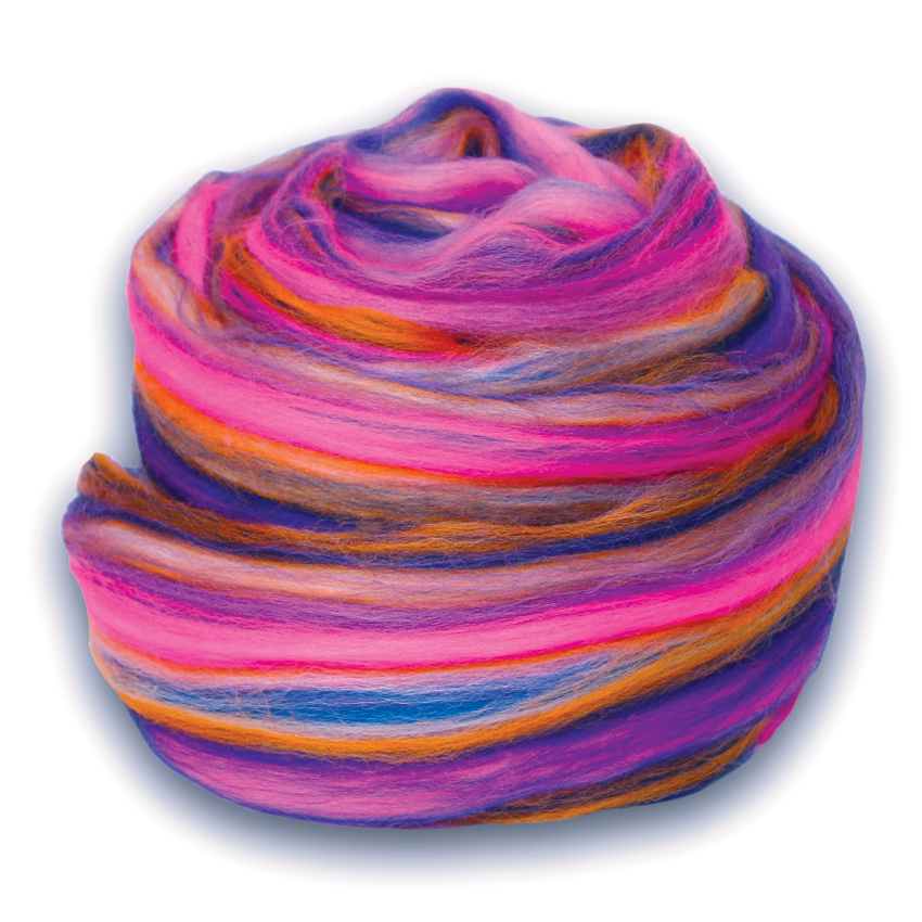 Paradise Fibers Multi Color Merino Wool Top - Petals-Fiber-Paradise Fibers