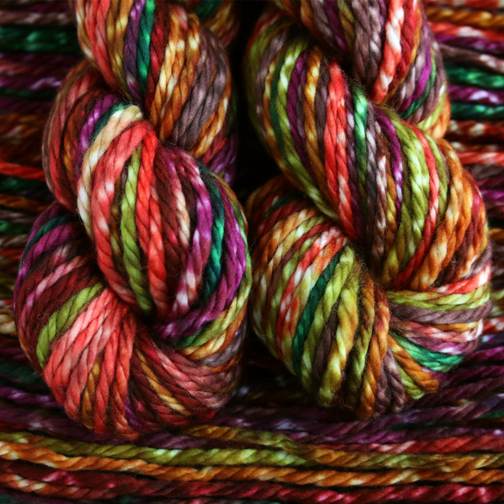 12 colors hand dyed multicolor yarn Magic Beauty Ball Reefs extra long