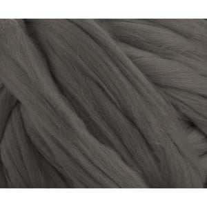 Soft Dyed (Pewter) Merino Jumbo Yarn - 7lb Special for Arm Knitted Blankets-Fiber-