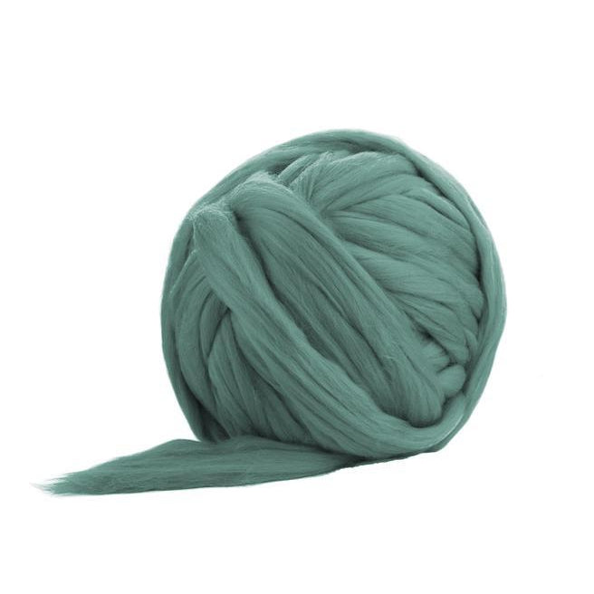 Soft Dyed (Teal) Merino Jumbo Yarn - 7lb Special for Arm Knitted Blankets-Fiber-Paradise Fibers