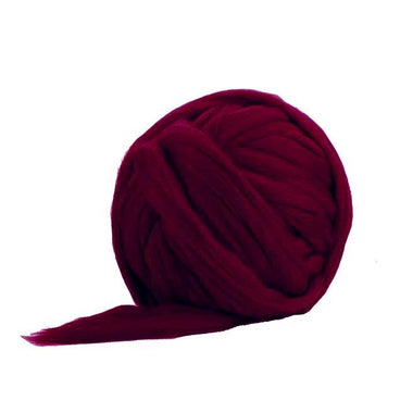 Solid Colored Corriedale Jumbo Yarn - Aubergine - 6.6lb (3kg) Special for Arm Knitted Blankets