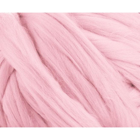 Solid Colored Corriedale Jumbo Yarn - Cupcake - 6.6lb (3kg) Special for Arm Knitted Blankets