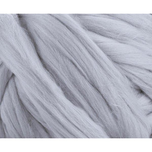 Solid Colored Corriedale Jumbo Yarn - Fog - 6.6lb (3kg) Special for Arm Knitted Blankets-Fiber-Paradise Fibers