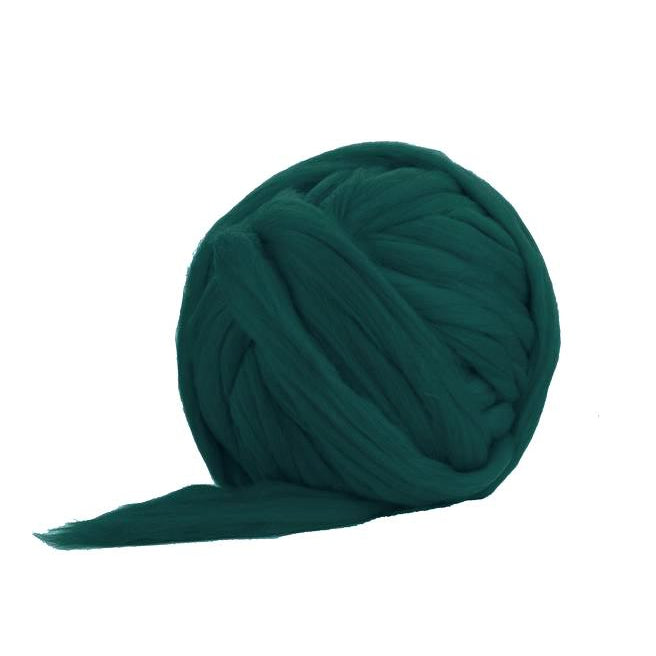 Solid Colored Corriedale Jumbo Yarn - Green Tea - 6.6lb (3kg) Special for Arm Knitted Blankets-Fiber-Paradise Fibers
