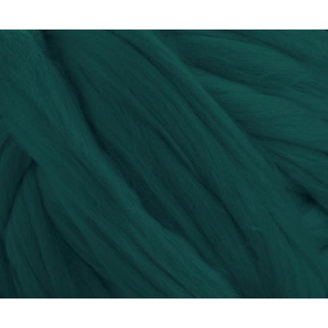 Solid Colored Corriedale Jumbo Yarn - Green Tea - 6.6lb (3kg) Special for Arm Knitted Blankets
