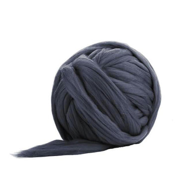 Solid Colored Corriedale Jumbo Yarn - Grey - 6.6lb (3kg) Special for Arm Knitted Blankets