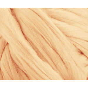 Solid Colored Corriedale Jumbo Yarn - Honey - 6.6lb (3kg) Special for Arm Knitted Blankets-Fiber-