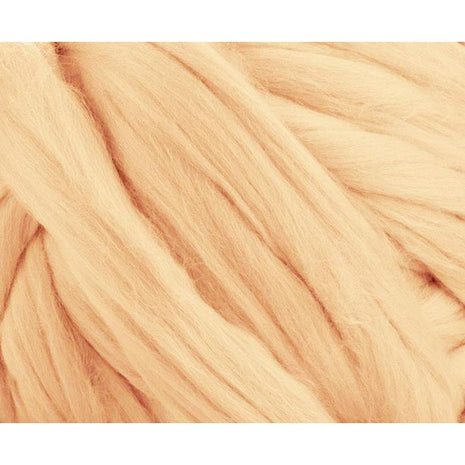 Solid Colored Corriedale Jumbo Yarn - Honey - 6.6lb (3kg) Special for Arm Knitted Blankets-Fiber-Paradise Fibers