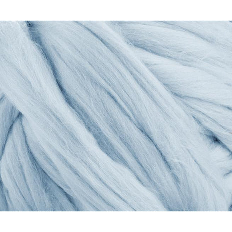 Solid Colored Corriedale Jumbo Yarn - Ice - 6.6lb (3kg) Special for Arm Knitted Blankets