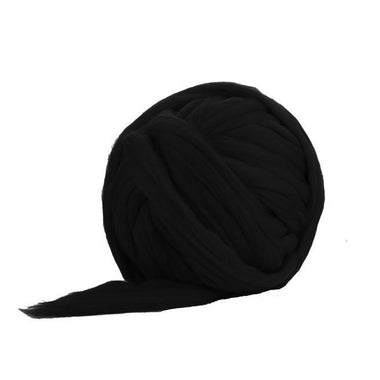 Solid Colored Corriedale Jumbo Yarn - Liquorice - 6.6lb (3kg) Special for Arm Knitted Blankets-Fiber-Paradise Fibers