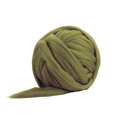 Solid Colored Corriedale Jumbo Yarn - Olive - 6.6lb (3kg) Special for Arm Knitted Blankets-Fiber-Paradise Fibers