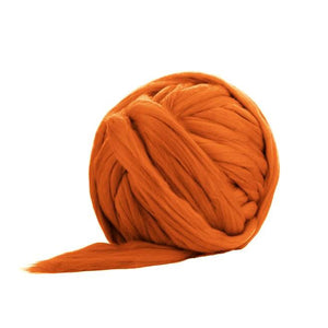 Solid Colored Corriedale Jumbo Yarn - Toffee - 6.6lb (3kg) Special for Arm Knitted Blankets-Fiber-