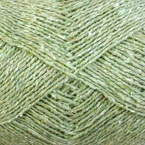 Color New Leaf 6962. A Pale Green Shade of Berroco Remix Light DK Yarn.