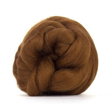 Paradise Fibers Solid Colored Corriedale - Chocolate