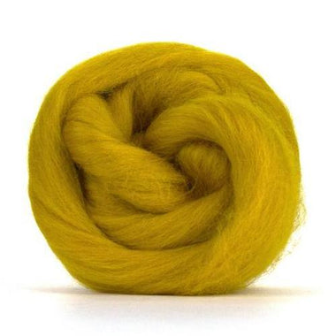 Paradise Fibers Solid Colored Corriedale - Mustard-Fiber-Paradise Fibers