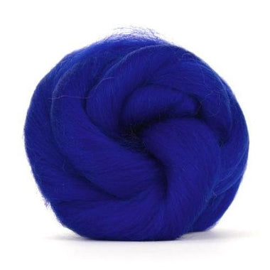 Paradise Fibers Solid Colored Corriedale - Sapphire