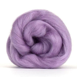 Paradise Fibers Solid Colored Corriedale - Lavender-Fiber-4oz-