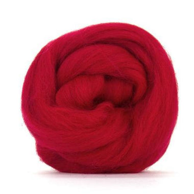 Paradise Fibers Solid Colored Corriedale - Scarlet