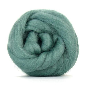 Paradise Fibers Solid Colored Corriedale - Teal-Fiber-4oz-