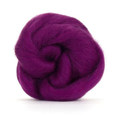 Paradise Fibers Solid Colored Corriedale - Damson