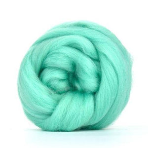 Paradise Fibers Solid Colored Corriedale - Aqua-Fiber-4oz-