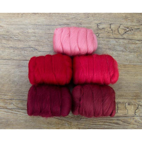 Paradise Fibers Mixed Merino Wool Bag - Rosy Red - 2