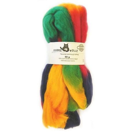 Artfelt Multi Colored Merino Standard Rovings Party Time 1505 - 1