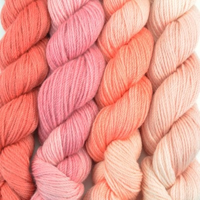 Paradise Fibers Yarn Artyarns Merino Cloud Gradient Kit Peach Blossom - 8